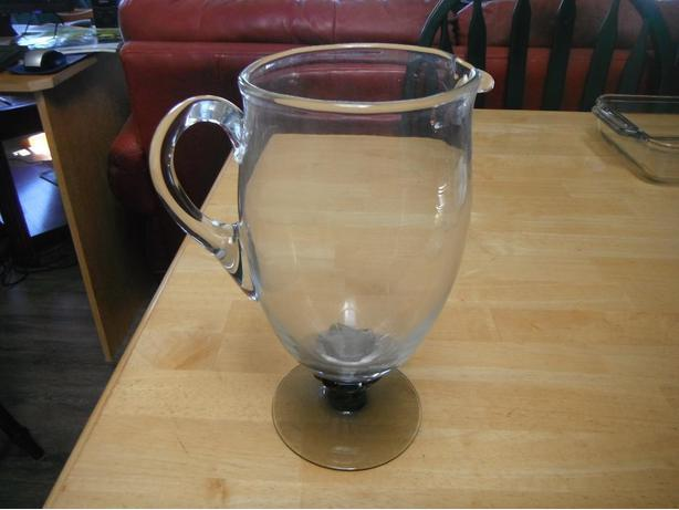 smokey black/grey color glass lemonade or iced tea pitcher