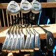 LADIES / YOUTH POWERBUILT STAINLESS GRAPHITE GOLF SET C/W BAG + MORE