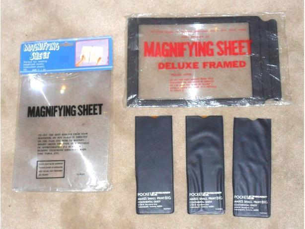 2 Big and 3 Small Magnifying Sheets