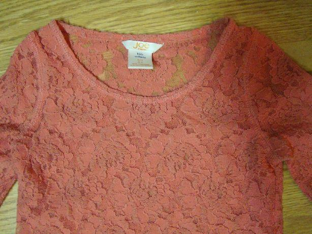 Like New Shirt Lace Fancy Long Sleeve Pink Toddler size 5-6 - $3