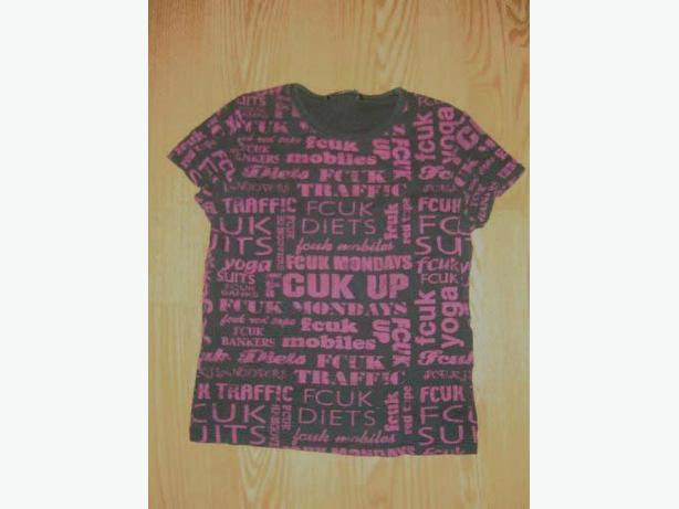 Like New T-Shirt Pink Black Fcuk Youth Size S - $2
