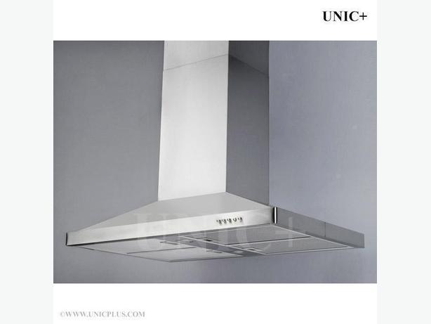 """New 36"""" Chimney style Stainless Steel Kitchen Island Range Hood Fan"""