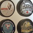 Personalized Hockey Pucks, Mini-Sticks, Ties & Mats
