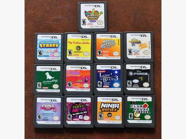 Nintendo DS cartridge games