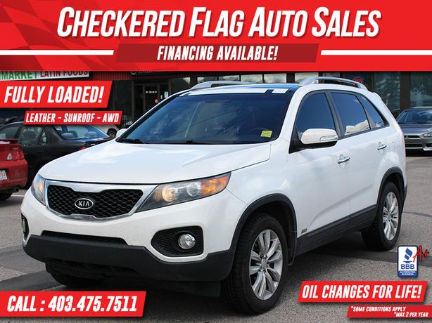2011 Kia Sorento EX Luxury AWD-NAVI-LEATHER-DUAL ROOF-REAR CAM