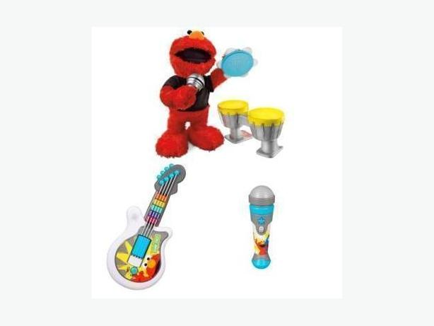 Like New Let's Rock Elmo with Guitar, Drums and Microphone - $70 obo