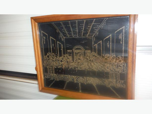 Antique LAST SUPPER PICTURE FRAME