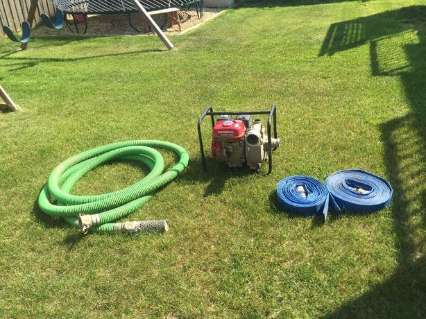"2"" honda pump and hoses for sale"