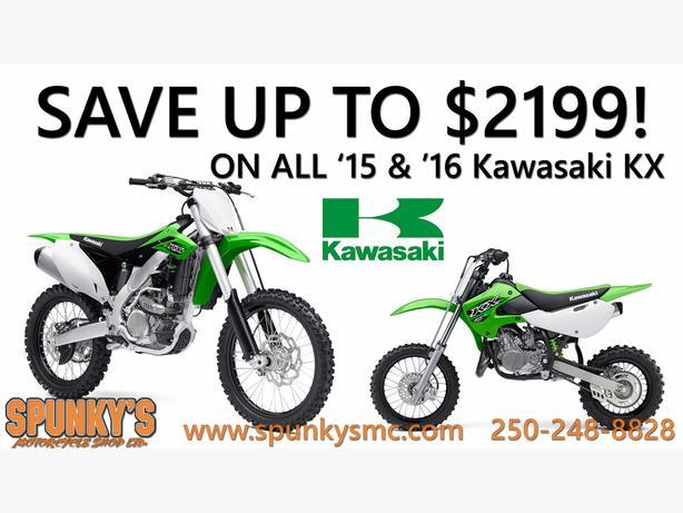 Save up to $2199 on '15 and '16 Kawasaki KXs