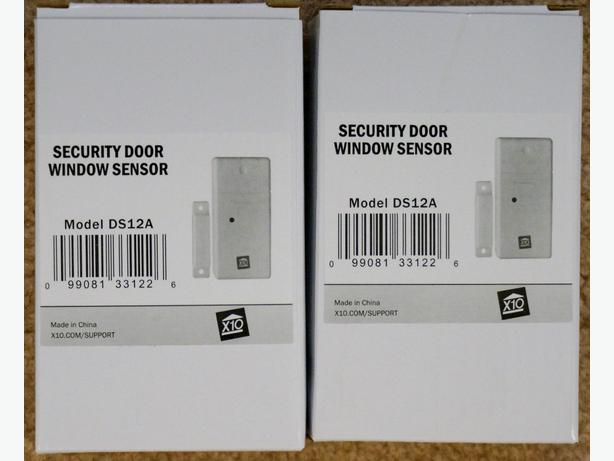 2 X10 DS12A Smart Door/Window Sensors