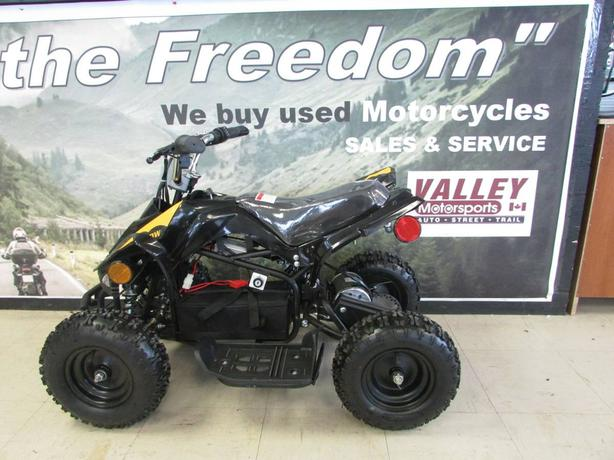 The electric 500w kids atv @ Valley Motorsports