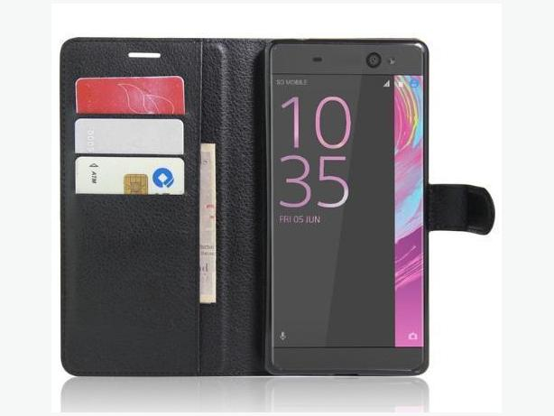Premium Leather Wallet-Flip Case For Sony Xperia XA Ultra