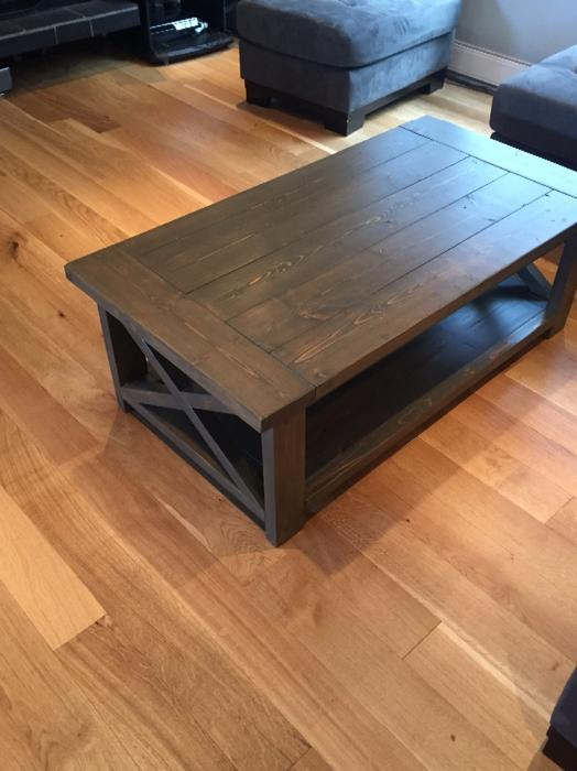 Solid Knotty Pine Farmhouse Coffee Table Saanich Victoria