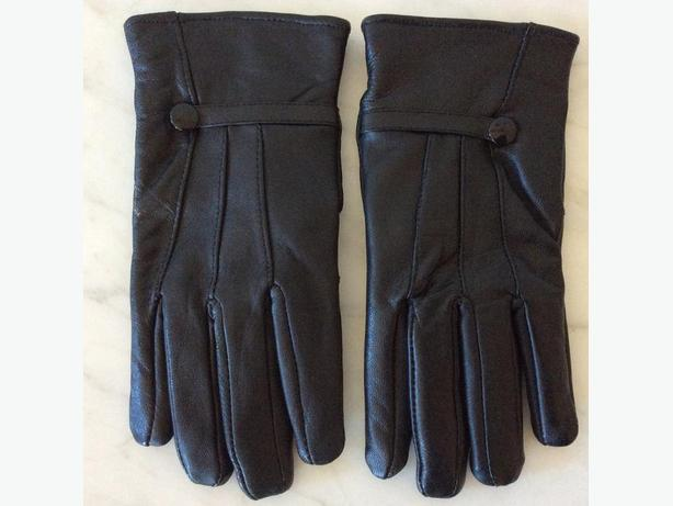 BLACK LEATHER LADIES GLOVES