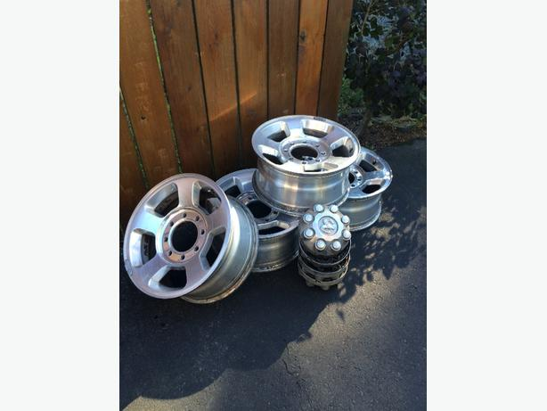 Stock aluminum Ram 3500 wheels