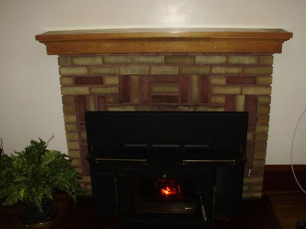 Two fireplace mantel's