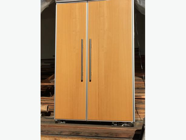 48 inch wide Kitchenaid side by side flush mount fridge similar subzero