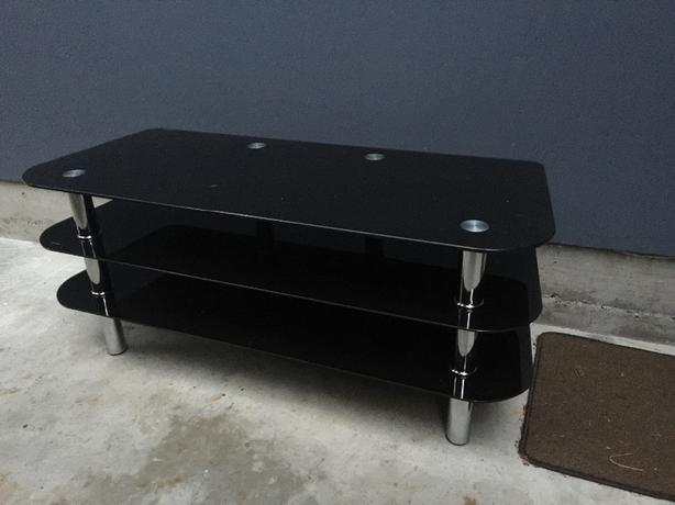 Chrome And Black Glass Coffee Table Tv Stand Central Nanaimo Nanaimo