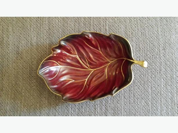 vintage leaf candy and nut dish