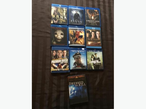 Various DVD's and Blurays for sale