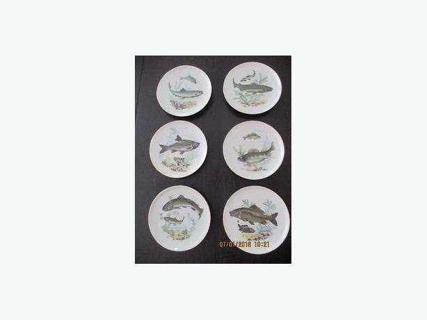 6 Colditz Collectible Fish Plates