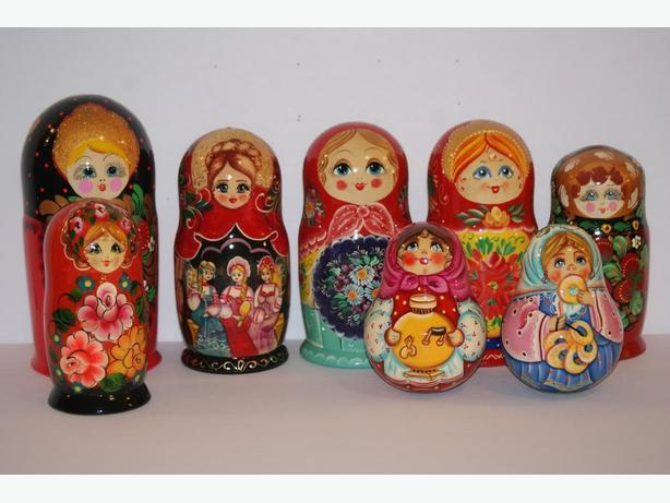 UNIQUE, HAND-PAINTED AND HAND-CRAFTED ARTISAN NESTING DOLLS