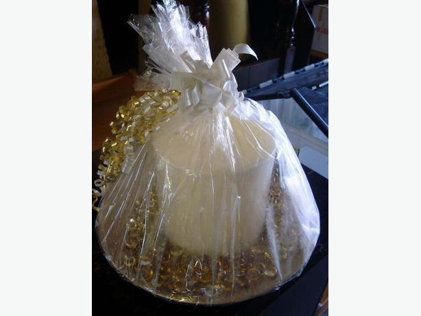 Brand New Large Votive Candle Gift Wrapped - $15