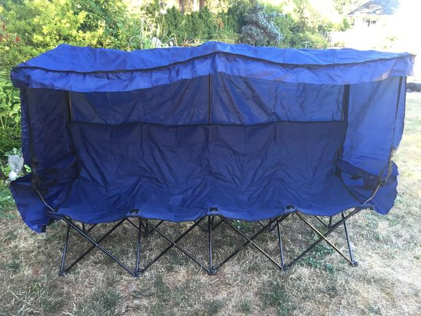 Folding Bench Seat With Canopy And Hydration Centre North