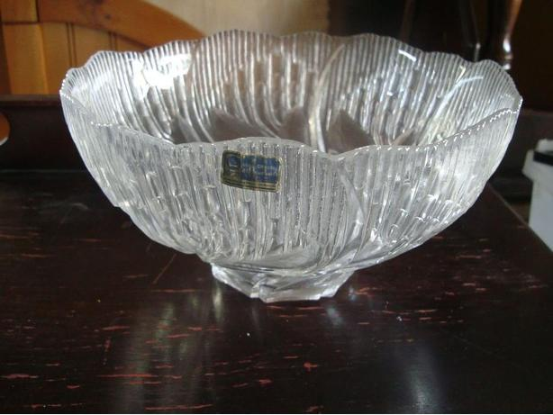 Brand New 10 inch Crystal Bowl - $15