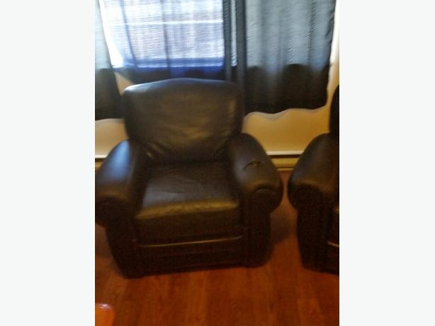 twin leather chairs need tlc