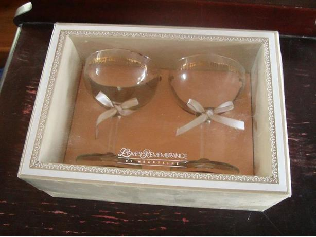 Like New Happy 50th Anniversary Wine Glasses - $10 for both