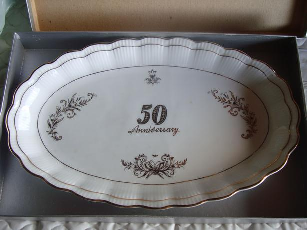 2 Brand New 50th Anniversary Oval Platters - $15 each