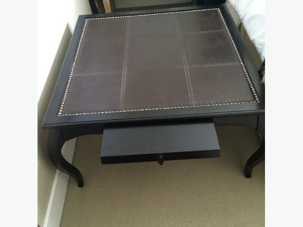 Leather Topped Coffee Table West Shore Langford Colwood