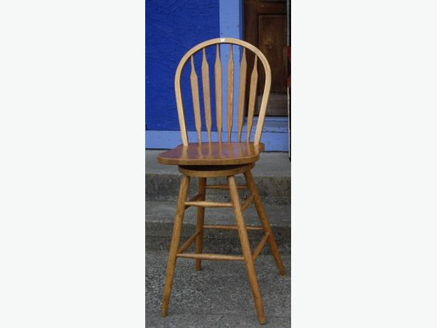 Tall Swivel Wood Bar Stool