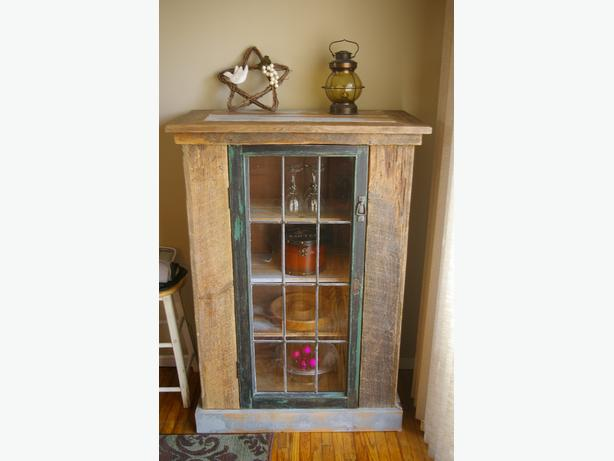 Rustic Reclaimed Cedar Wine Cabinet West Shore Langford Colwood