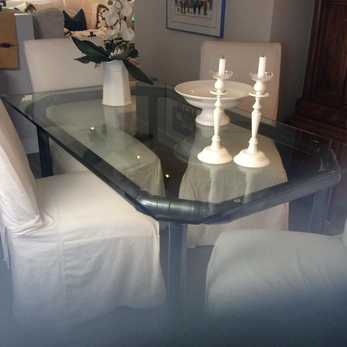 36x60 glass dining room table victoria city victoria mobile for Dining room table 60 x 36