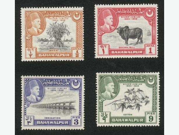 1949  Bahawalpur State Pakistan Set Scott 22-25