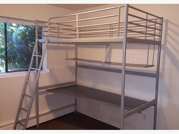 ikea bunk bed desk combo duncan cowichan