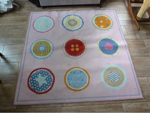 Sophisticated girls square  scatter rug