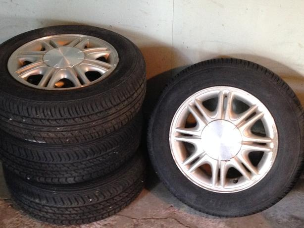 "15"" tire and rims (set of 4)"