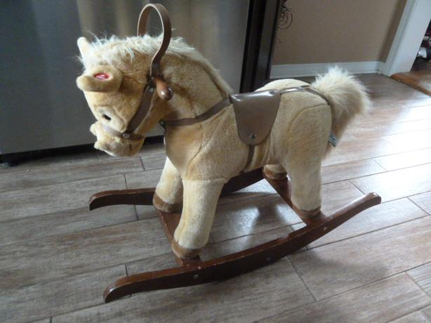 Chrisha Playful Plush Vintage Rocking Horse 1996