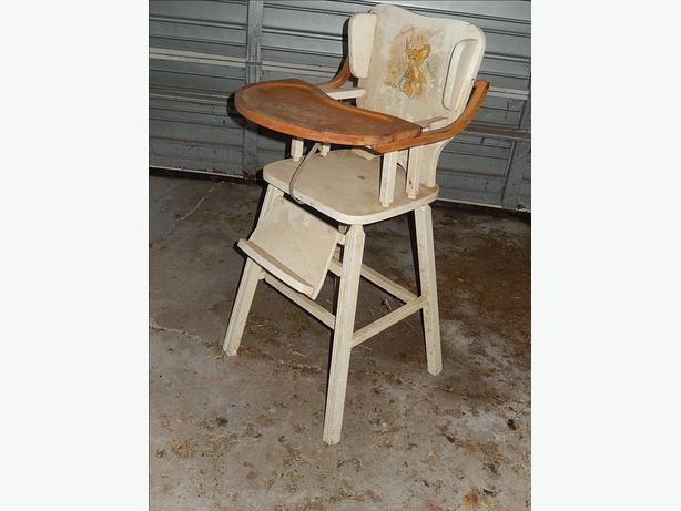 1950's Wooden High Chair