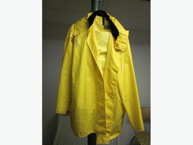 Rain Gear, Yellow in color