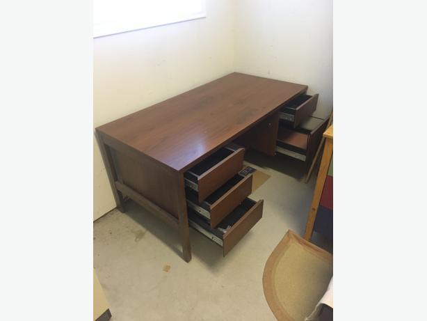 Black Walnut Executive Desk & Chair