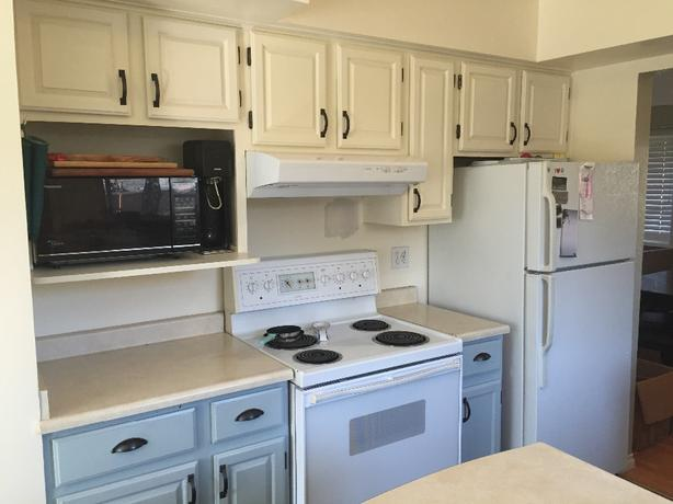 Painted Oak Kitchen Cabinets Incl Countertop No Sink