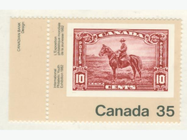 1982 Canada Commemorative Stamp Mountie