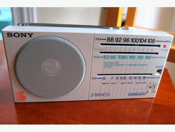 CLASSIC SONY ICF-22 PORTABLE 3-BAND RADIO LIKE WALKMAN