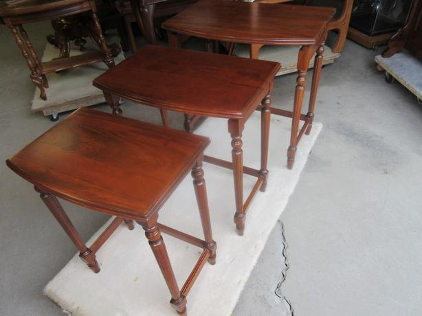 GRAMAS  ESTATE WALNUT STACKING TABLES