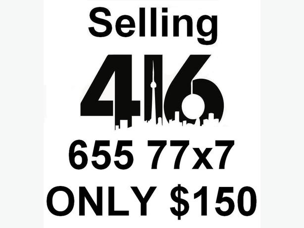 Selling 416 Number 416.655.77x7 for ONLY $150 - NO Contract
