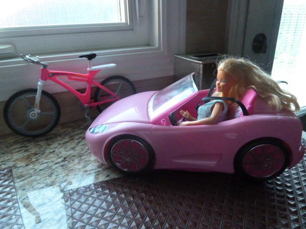 Barbie doll, Barbie's sports car and bike
